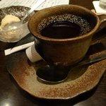 銀座 竹の庵 - コーヒーとゆずアイスクリーム