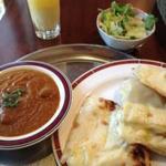 ネパールインド料理 友人 - おすすめセット(マトン、チーズナン)