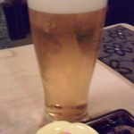 有薫酒蔵 - ビールとお通し.JPG