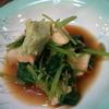 焼鳥・海鮮料理 鳥忠 - 料理写真:モッツァレラチーズと三葉の醤油仕立て(400円)、わさびがよく合う