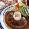 レストランつねまつ - 料理写真:一番人気のハンバーグ定食(牛肉100%)