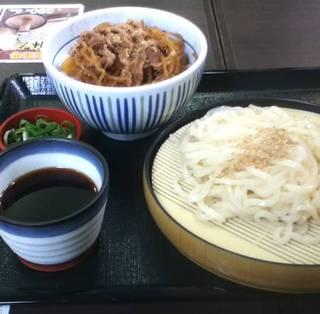 なか卯 - 和風牛丼(並)+ざるうどん(小盛) ¥580
