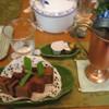 オープンガーデンカフェ 猫の散歩道 - 料理写真:アイスコーヒー(お庭見学ドリンク付き¥300 と 気まぐれおやつ¥200)