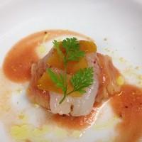 カノビアーノ - しま海老とカラスミの冷製カッペリーニ。カノビアーノの代名詞です。