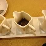 カフェマノワール - サラダのドレッシング3種類♡