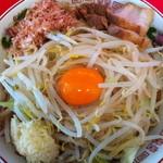 赤ひげラーメン - 780円『まぜそば』(無料:野菜多め ニンニク)