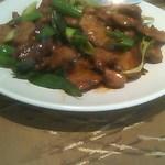 グランドプリンスホテル京都 中国料理 桃園 - 牛肉と九条ねぎの炒め