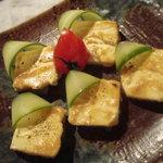 酉の - クリームチーズの味噌漬け