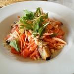 麦藁帽子 - ナスとトマトの冷たいスパゲティー 1000円