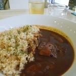 ヨガカフェ - 2012/6月訪問時の日替わりランチ「茄子のカレー」