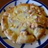 ルート50 - 料理写真:エビ&サラミピザ