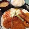 サクランボ - 料理写真:ミックスフライ定食 600円