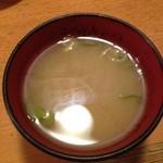 太田屋 - サービスの〆の味噌汁