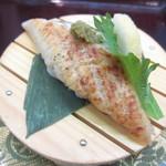 廻鮮寿し丸徳 - うなぎ 白醤油 柚子胡椒で¥399
