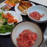 アトレ川越ビヤガーデン - ジンギスカンの肉と料理
