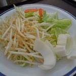 アトレ川越ビヤガーデン - ジンギスカン用の野菜