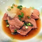 両花 - 地鶏レバーおろしポン酢580円