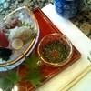 焼津 たち吉 - 料理写真:ランチにはプラス\1000でお造りがつけられます。