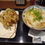 丸亀製麺 - おろしトッピング+磯辺かき揚げ 480円