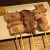 日本再生酒場 - 料理写真:べーこん(320円)、こめかみ(140円)、のどがしら(220円)