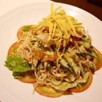 桂花飯店 - 花クラゲとトマトの冷やし中華