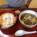 清源坊 - お好みセット 1050円(ラーメン&カツ丼)