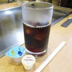 お好み焼十万 - 昼定食の、飲み物 アイスコーヒーにしました