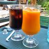 麓郷の森 森のレストラン - ドリンク写真:100%ふらのにんじんジュース & アイスコーヒー