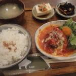 knut - トマトとチーズのハンバーグセット☆