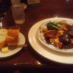 カサデフジモリ - スパニッシュランチ(イベリコ黒豚ほお肉の赤ワイン煮込み)(2012.7)