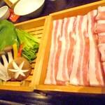 田中屋豚肉店 - 豚ツユしゃぶランチ1200円