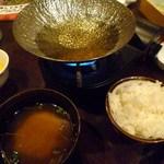 田中屋豚肉店 - 豚ツユしゃぶランチ1200円 ご飯味噌汁お替わり自由