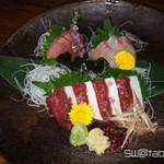 あらえびす - 熊本馬刺と鮮魚刺の計4種盛