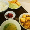 蓬珉軒 - 料理写真:麻婆豆腐とイカフライのサービス定食