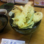 活魚料理 魚榮 - 天丼1025円