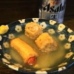 丸健水産 - シュウマイ巻、ソーセージ巻(合わせて390円)