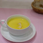 レストランカノウ - アニバーサリーランチのスープ