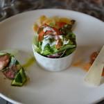 アトリエ パティオ - 自家製フレッシュサラダとオードブル3種