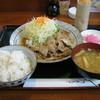 旬 おふくろ亭 - 料理写真:生姜焼き定食(麦めし)です。