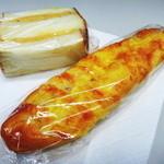 新橋ベーカリー - つぶピーナッツバターサンドとベーコンハース