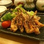 うまい鮨勘 - 珍味三品盛(酒盗、いか塩辛、ばくらい)
