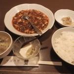 木蘭 - 「特製麻婆豆腐」(1050円)です