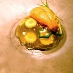 リシュール 苦楽園 - 雲丹とお野菜のジュレ ヴィシソワーズのシェカラ―ト