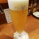 多古久 - 新メニュー 生ビール「白穂乃香」
