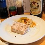 山利喜 - 豚肉と鶏レバーのテリーヌ(800円)