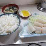 味の壺平 - イカ刺し定食 850円
