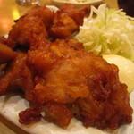 銀座 阿波おどり - カリカリに揚げれらた鶏の唐揚げ。