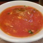 北京遊膳 - トマトとフカヒレのスープ
