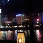 ソルファミリア - 店内から見た中洲の夜景・・・・★