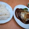 南蛮茶館 - 料理写真:「ダブルハンバーグセット」(1,050円)。ライスは+100円です。かなりなボリューム。